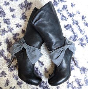 Genuine Leather Stiletto Heel Boots